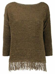 Fabiana Filippi textured fringe jumper - Brown