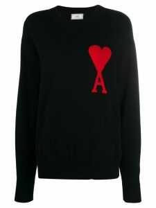 Ami Paris Ami de Coeur logo jumper - Black