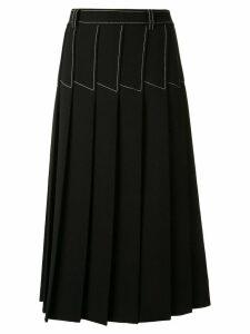 Dion Lee column pleated midi skirt - Black