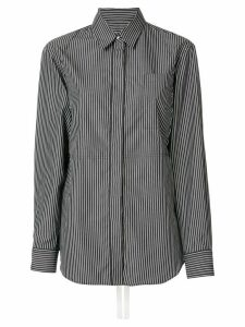 Mm6 Maison Margiela tie waist striped shirt - Black