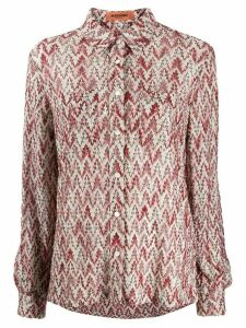 Missoni foliage-pattern knitted shirt - PINK