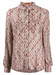 Missoni foliage-pattern knitted shirt - PINK