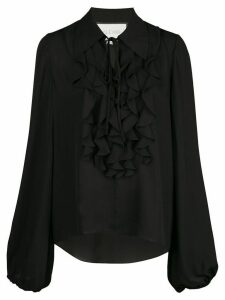 Alexis Niseema ruffled front blouse - Black