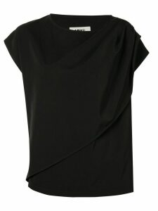 Mm6 Maison Margiela asymmetric sleeve T-shirt - Black