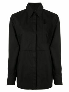 Mm6 Maison Margiela cotton tie waist shirt - Black