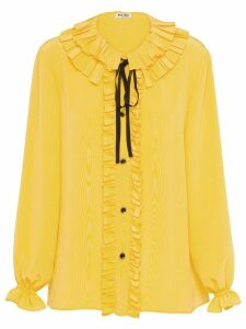 Miu Miu crepe de chine blouse - Yellow