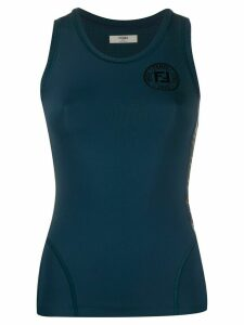 Fendi logo tank top - Blue
