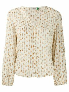 Rixo Mila Linear blouse - NEUTRALS