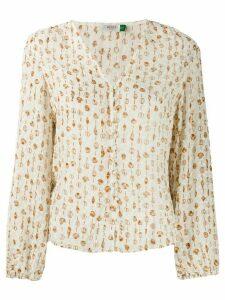 Rixo Mila Linear blouse - NEUTRALS