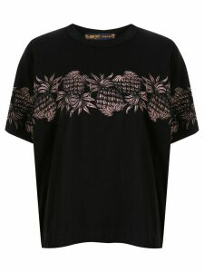 Sacai embroidered pineapple T-shirt - Black