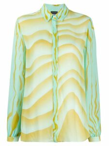 Just Cavalli wave-print loose-fit shirt - Green