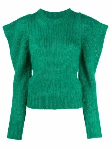 Isabel Marant structured shoulders jumper - Green