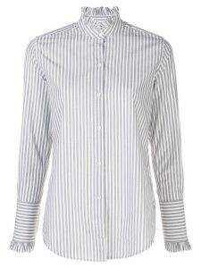 Nili Lotan striped ruffle trim shirt - Grey