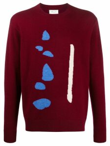 LERET LERET No. 2 abstract knit jumper - Red