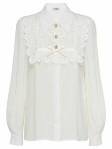 Miu Miu Sablé blouse - White