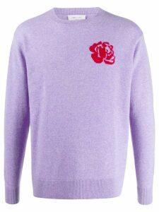 LERET LERET No. 3 rose detail jumper - PURPLE