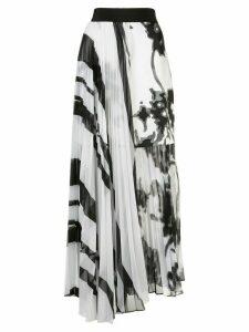 Silvia Tcherassi Gaelle striped pleated skirt - White
