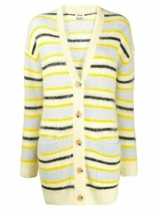Acne Studios oversized striped knitted cardigan - NEUTRALS