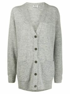 Acne Studios oversized V-neck cardigan - Grey