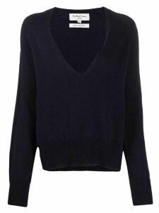 YMC V-neck cotton jumper - Blue