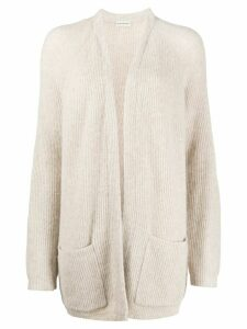 By Malene Birger knitted ribbed cardigan - NEUTRALS