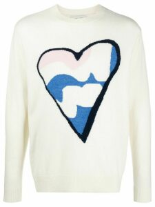 LERET LERET No. 6 Heart knit jumper - NEUTRALS