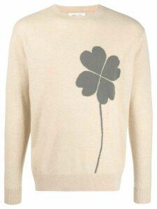 LERET LERET No. 9 clover intarsia cashmere jumper - NEUTRALS