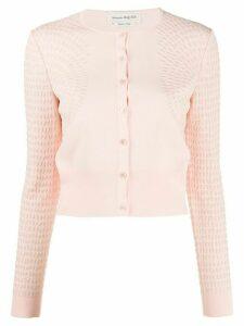 Alexander McQueen jacquard-knit cardigan - PINK
