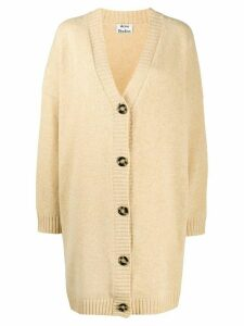 Acne Studios oversized long knitted cardigan - NEUTRALS