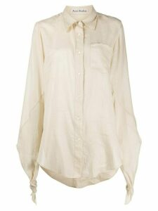 Acne Studios knotted sleeves buttoned shirt - NEUTRALS