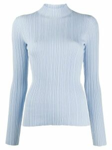 Acne Studios textured mock neck jumper - Blue
