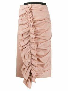 Antonio Marras ruffled pencil skirt - PINK