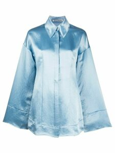 Acne Studios oversized satin shirt - Blue