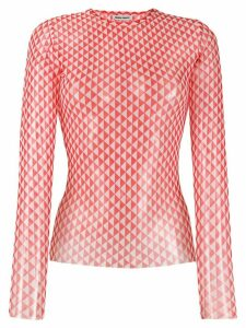Henrik Vibskov flag geometric pattern top - Red