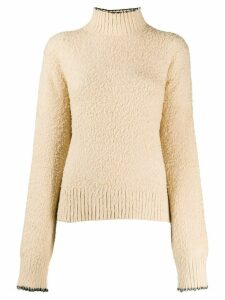 Acne Studios brushed turtle-neck jumper - NEUTRALS