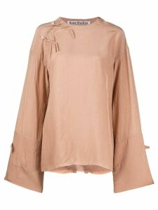 Acne Studios bell-sleeve oversized top - NEUTRALS