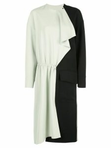 Tibi fused colorblock dress - Black