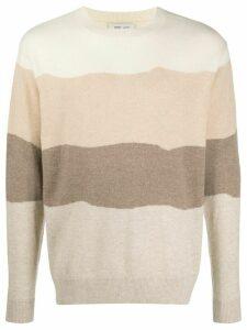 LERET LERET No. 11 striped relaxed-fit cashmere jumper - NEUTRALS