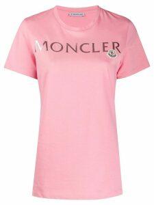 Moncler logo print T-shirt - PINK