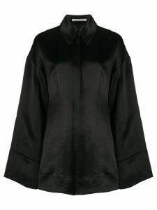 Acne Studios oversized satin shirt - Black
