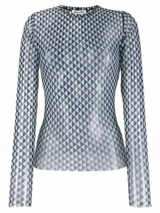 Henrik Vibskov flag geometric pattern top - Blue