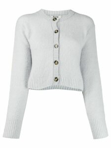 Acne Studios cropped crew neck cardigan - Blue