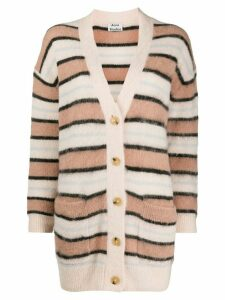Acne Studios oversized striped cardigan - PINK