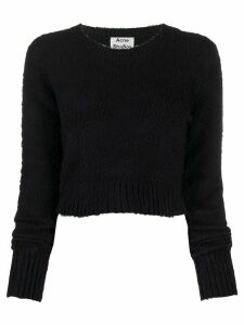Acne Studios brushed cropped crew neck jumper - Blue