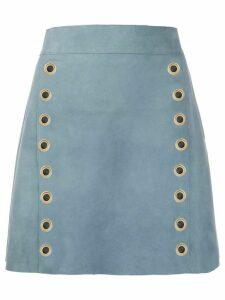 Alberta Ferretti eyelet design skirt - Blue