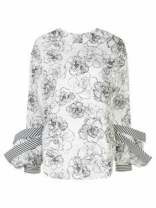 Silvia Tcherassi Jessica oversized cuffs blouse - White