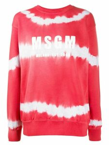 MSGM logo-print tie-dye sweatshirt - Red