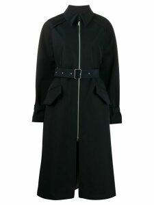 Acne Studios belted zip-fastening trench coat - Blue