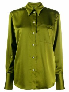 MSGM satin finish buttoned blouse - Green