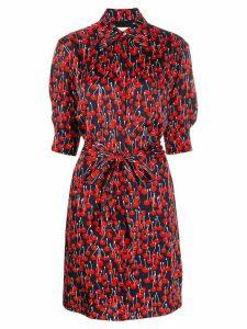 Victoria Victoria Beckham cherry-print shirt dress - Blue